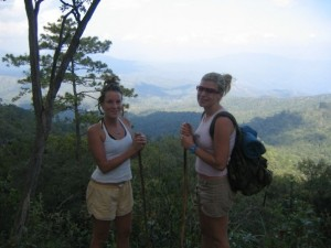 Karen and Colleen Backpacking