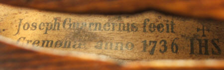 Guarneri violin label